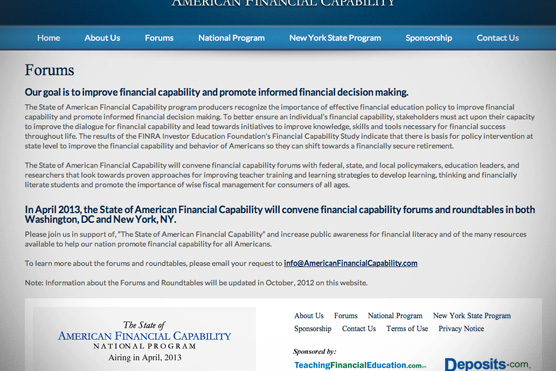 The State Of American Financial Capability